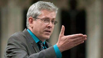 NDP MP Charlie Angus rises in the House of Commons June 12, 2012 in Ottawa.
