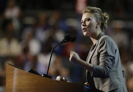Scarlett Johansson: A conventional love affair for stars, Democrats
