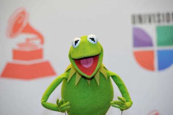 Slide 1 of 3: Kermit the Frog poses in the press room during the 12th Annual Latin GRAMMY Awards held at the Mandalay Bay Resort & Casino on November 9, 2011 in Las Vegas, Nevada.