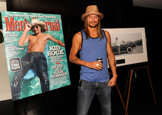 "Slide 1 of 4: (EXCLUSIVE COVERAGE) <a href=/celebrities/celebrity/kid-rock/ type=""Msn.Entertain.Server.WebControls.LinkableMoviePerson"" Arg=""62352"" LinkType=""Page"">Kid Rock</a> attends the ""Born Free"" platinum party at The Hotel on Rivington Penthouse on July 11, 2011 in <a href=/movies/movie/new-york.4/ type=""Msn.Entertain.Server.WebControls.LinkableMovie"" Arg=""2268226"" LinkType=""Page"">New York</a> City."