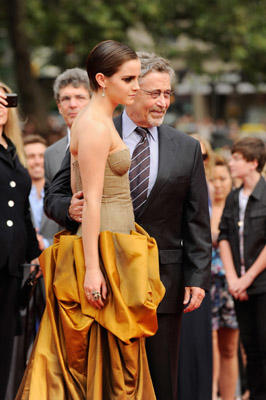 "Slide 1 of 136: Emma Watson (L) and Barry M. Meyer attend the premiere of ""Harry Potter and the Deathly Hallows: Part 2"" at Avery Fisher Hall, Lincoln Center on July 11, 2011 in New York City. at the New York premiere in New York on July 10, 2011"