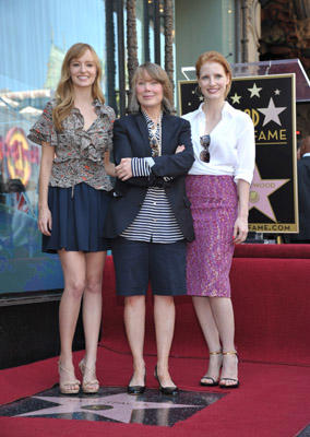 Slide 1 of 21: Ahna O'Reilly, Sissy Spacek and Jessica Chastain attend Sissy Spacek's Hollywood Walk of Fame ceremony on August 1, 2011 in Hollywood, California.
