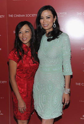 "Slide 1 of 108: Amy Chua and producer Wendi Murdoch attend the Cinema Society with Ivanka Trump Jewelry & Diane Von Furstenberg screening of ""Snow Flower And The Secret Fan"" at the Tribeca Grand Hotel on July 13, 2011 in New York City."