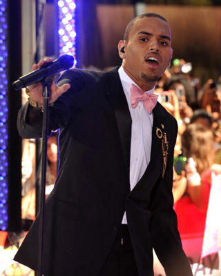 "Slide 1 of 8: Chris Brown performs on NBC's ""Today"" at Rockefeller Plaza on July 15, 2011 in New York, United States."
