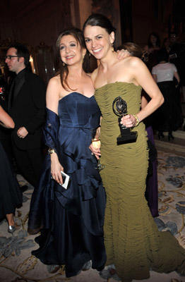 Slide 1 of 35: Donna Murphy (L) and Sutton Foster attend the party following the 65th Annual Tony Awards at The Plaza Hotel on June 12, 2011 in New York City.