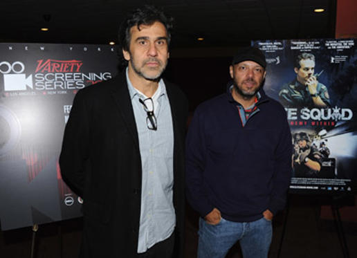 "Slide 1 of 14: Directors Marcos Prado and José Padilha attend the Variety screening of ""Elite Squad: The Enemy Within"" at the Chelsea Clearview Cinemas on November 10, 2011 in New York City."