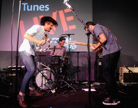 Slide 1 of 14: Young The Giant performs at the Apple Store Soho on July 6, 2011 in New York City.