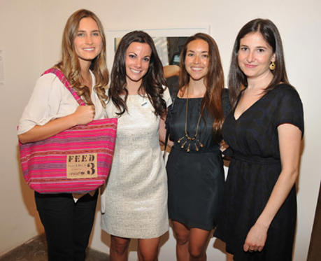 Slide 1 of 11: Lauren Bush, Danielle Abraham, Mia Baxter and Kate Greenberg attend UNICEF's Next Generation Photo Benefit at Phillips de Pury & Company on June 15, 2011 in New York City.
