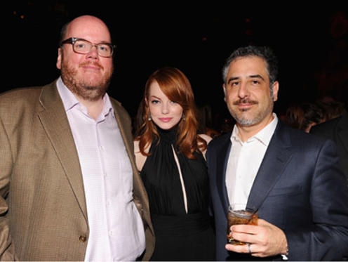 "Slide 1 of 5: Director John Requa ,Emma Stone and director Glenn Ficarra attend the ""Crazy, Stupid, Love."" World Premiere after party at TAO on July 19, 2011 in New York City. at the Crazy, Stupid, Love. premiere in New York on July 18, 2011"