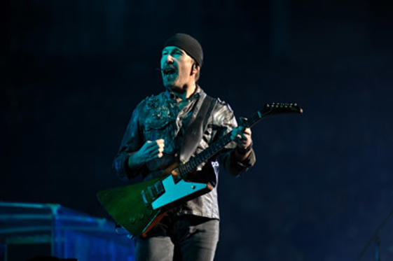 Slide 1 of 5: The Edge performs during the U2 360 Tour at INVESCO Field at Mile High on May 21, 2011 in Denver, Colorado.