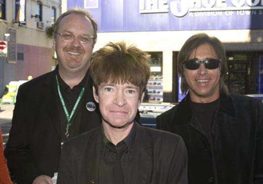 Slide 1 of 7: George Hickenlooper, director, Rodney Bingenheimer, and Chris Carter at the The Mayor of the Sunset Strip premeire in Toronto on September 05, 2003