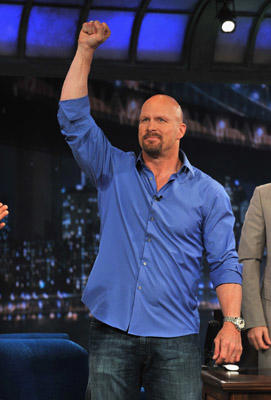 "Slide 1 of 6: ""Stone Cold"" Steve Austin visits ""Late Night With Jimmy Fallon"" at Rockefeller Center on May 27, 2011 in New York City."