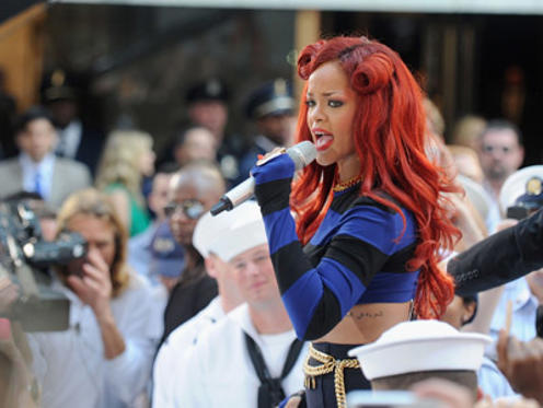 "Slide 1 of 71: Rihanna performs on NBC's ""Today"" in Rockefeller Plaza on May 27, 2011 in New York City."