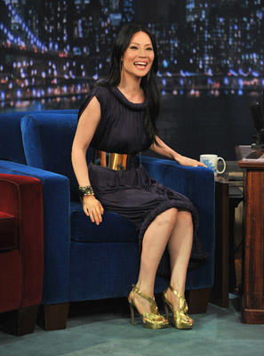 "Slide 1 of 4: <a href=/celebrities/celebrity/lucy-liu/ type=""Msn.Entertain.Server.WebControls.LinkableMoviePerson"" Arg=""358764"" LinkType=""Page"">Lucy Liu</a> visits ""<a href=/tv/series/late-night-with-jimmy-fallon/ type=""Msn.Entertain.Server.WebControls.LinkableTVSeries"" Arg=""1"" LinkType=""Page"">Late Night With Jimmy Fallon</a>"" at Rockefeller Center on May 25, 2011 in <a href=/movies/movie/new-york.4/ type=""Msn.Entertain.Server.WebControls.LinkableMovie"" Arg=""2268226"" LinkType=""Page"">New York</a> City."