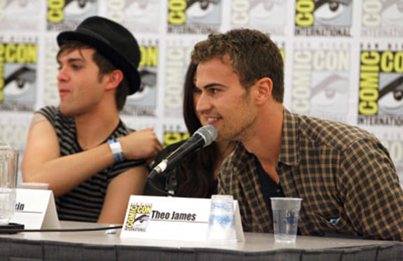 "Slide 1 of 31: Actor Theo James (R) speaks at ""Super Supernatural"" Panel during Comic-Con 2011 at the San Diego Convention Center on July 23, 2011 in San Diego, California."