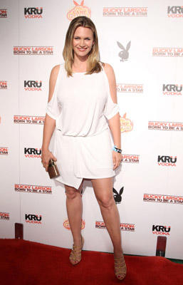 "Slide 1 of 101: Actress Natasha Henstridge arrives at the Camp Playboy party at Comic-Con with Sony Pictures' ""Bucky Larson: Born To Be A Star"" and KRU Vodka on July 22, 2011 in San Diego, California."