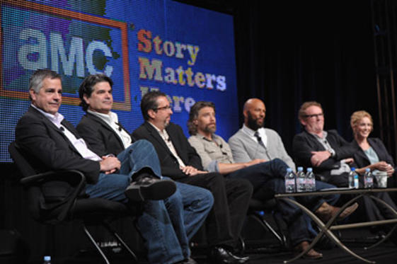 "Slide 1 of 51: (L-R) Creators/writers/executive producers <a href=/celebrities/celebrity/tony-gayton/ type=""Msn.Entertain.Server.WebControls.LinkableMoviePerson"" Arg=""343739"" LinkType=""Page"">Tony Gayton</a> and <a href=/celebrities/celebrity/joe-gayton/ type=""Msn.Entertain.Server.WebControls.LinkableMoviePerson"" Arg=""351367"" LinkType=""Page"">Joe Gayton</a>, executive producer <a href=/celebrities/celebrity/john-shiban/ type=""Msn.Entertain.Server.WebControls.LinkableMoviePerson"" Arg=""484780"" LinkType=""Page"">John Shiban</a> and actors <a href=/celebrities/celebrity/anson-mount/ type=""Msn.Entertain.Server.WebControls.LinkableMoviePerson"" Arg=""147453"" LinkType=""Page"">Anson Mount</a>, Common, <a href=/celebrities/celebrity/colm-meaney/ type=""Msn.Entertain.Server.WebControls.LinkableMoviePerson"" Arg=""326070"" LinkType=""Page"">Colm Meaney</a> and <a href=/celebrities/celebrity/dominique-mcelligott/ type=""Msn.Entertain.Server.WebControls.LinkableMoviePerson"" Arg=""1776129"" LinkType=""Page"">Dominique McElligott</a> speak during AMC's ""Hell on Wheels"" TCA Panel during the 2011 Summer TCA Tour at the Beverly Hilton on July 28, 2011 in Beverly Hills, California."
