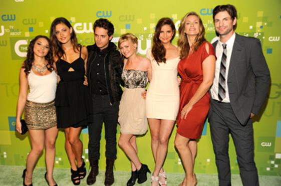 Slide 1 of 148: Jessica Parker Kennedy, Phoebe Jane Tonkin, Thomas Dekker, Britt Roberton, Shelley Hennig, Natasha Henstridge and Gale Harold attends the CW Network's 2011 Upfront at Jazz at Lincoln Center on May 19, 2011 in New York City.