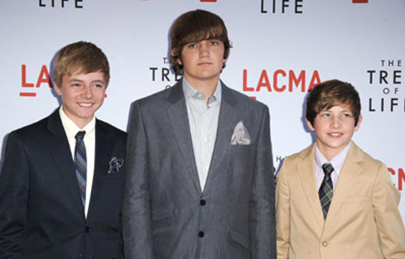 "Slide 1 of 227: Actors Tye Sheridan, Laramie Eppler and Hunter McCracken attends ""The Tree Of Life"" Los Angeles Premiere on May 24, 2011 in Los Angeles, United States. at the The Tree premiere in Los Angeles on May 24, 2011"