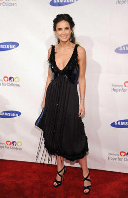 Slide 1 of 150: Actress Demi Moore attends Samsung Hope for Children Gala at Cipriani Wall Street on June 7, 2011 in New York City. According to a statement released by her rep, Moore has been hospitalized and is seeking professional help for exhaustion.