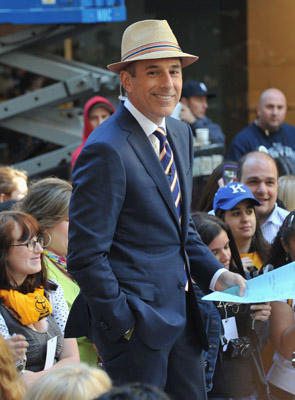 "Slide 1 of 23: <a href=/celebrities/celebrity/matt-lauer/ type=""Msn.Entertain.Server.WebControls.LinkableMoviePerson"" Arg=""162615"" LinkType=""Page"">Matt Lauer</a> on NBC's ""<a href=/tv/series/today.1/ type=""Msn.Entertain.Server.WebControls.LinkableTVSeries"" Arg=""1"" LinkType=""Page"">Today</a>"" at Rockefeller Center on June 3, 2011 in <a href=/movies/movie/new-york.4/ type=""Msn.Entertain.Server.WebControls.LinkableMovie"" Arg=""2268226"" LinkType=""Page"">New York</a> City."