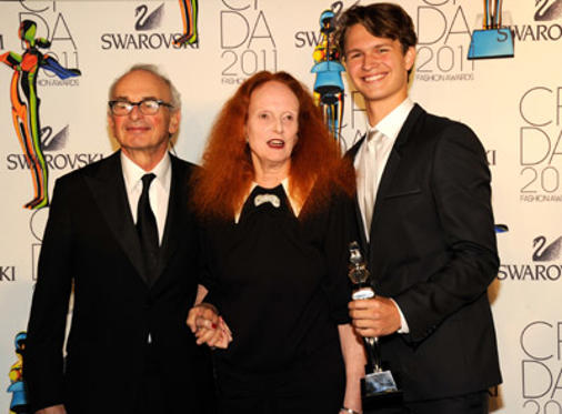 Slide 1 of 89: Grace Coddington (C) attends the 2011 CFDA Fashion Awards at Alice Tully Hall, Lincoln Center on June 6, 2011 in New York City.