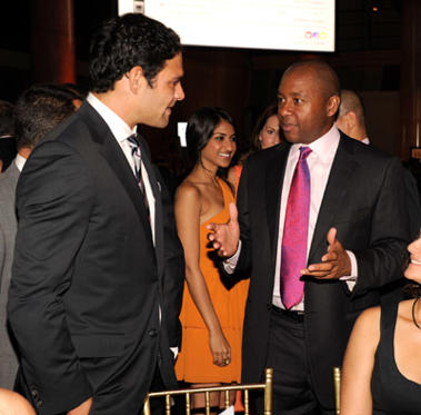 Slide 1 of 22: (EXCLUSIVE COVERAGE) Mark Sanchez and Bradford Marsalis in the audience during the Samsung Hope For Children Gala at Cipriani Wall Street on June 7, 2011 in New York City.