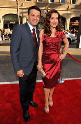 "Slide 1 of 136: Actress Maria Canals-Barrera (R) and David Barrera arrive at the ""Larry Crowne"" Los Angeles premiere at Grauman's Chinese Theatre on June 27, 2011 in Hollywood, California. at the Larry Crowne premiere in Hollywood on June 26, 2011"