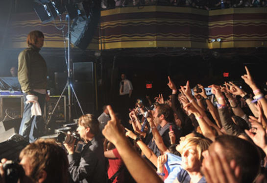 Slide 1 of 5: Liam Gallagher performs with Beady Eye at Webster Hall on June 23, 2011 in New York City.