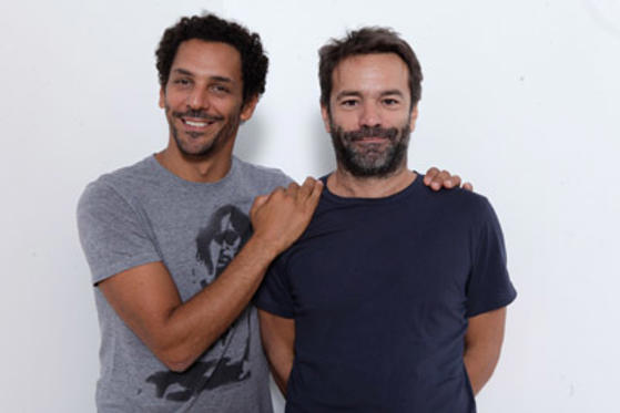 "Slide 1 of 12: Actor Tomar Sisley and director Frederic Jardin of ""Sleepless Night"" poses during the 2011 Toronto International Film Festival at the Guess Portrait Studio on September 13, 2011 in Toronto, Canada."