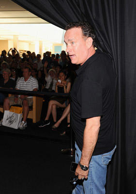 Slide 1 of 15: Actor Tom Hanks visits the Apple Store Soho on June 29, 2011 in New York City.