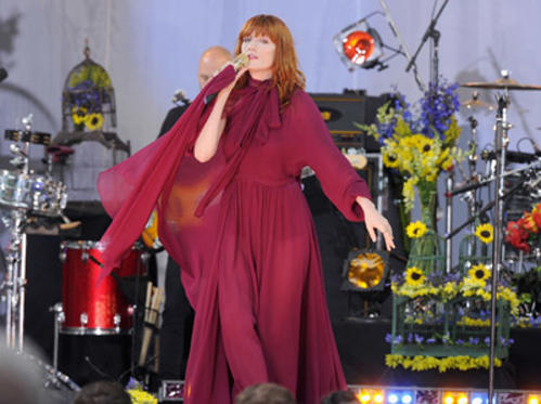 Slide 1 of 21: Singer Florence Welch of Florence + The Machine performs at Rumsey Playfield, Central Park on June 24, 2011 in New York City.