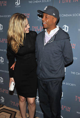 "Slide 1 of 36: Melissa George and Russell Simmons attend the Cinema Society & DeLeon Tequila screening of ""The Skin I Live In"" at the Tribeca Grand Hotel on October 13, 2011 in New York City."