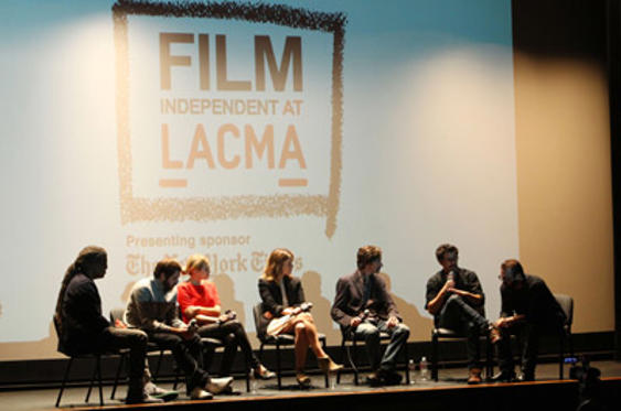 "Slide 1 of 29: View of panel at The 2011 Film Independent Screening Series of ""Martha, Marcy, May, Marlene"" held at The Bing Theatre At LACMA on October 16, 2011 in Los Angeles, California."