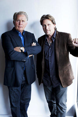 Slide 1 of 3: Actors, and father and son, Martin Sheen and Emilio Estevez are photographed for Life on October 7, 2011 in Los Angeles, California. ON DOMESTIC EMBARGO UNTIL OCTOBER 17, 2011. ON INTERNATIONAL EMBARGO UNTIL OCTOBER 17, 2011.