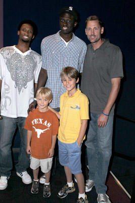 "Slide 1 of 13: (Top L-R) Basketball players Byago Diouf, Dethie Fall and former NBA player Brent Barry attend the ""Elevate"" Q & A during the 2011 Los Angeles Film Festival at Regal Cinemas L.A. LIVE on June 19, 2011 in Los Angeles, California."