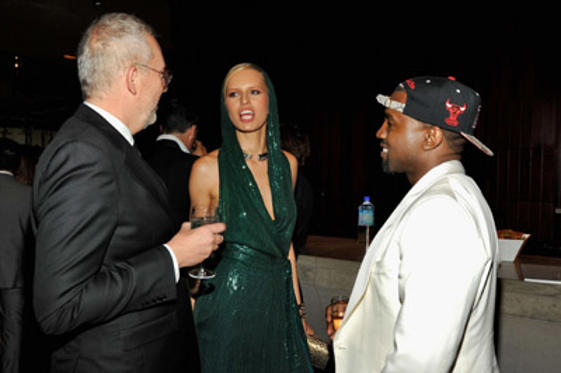 Slide 1 of 44: GQ Creative Director Jim Moore, Karolina Kurkova and Kanye West attend a supper following the 2011 CFDA Fashion Awards at Alice Tully Hall, Lincoln Center on June 6, 2011 in New York City.