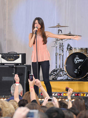 "Slide 1 of 11: Selena Gomez performs on ABC's ""Good Morning America"" at Rumsey Playfield, Central Park on June 17, 2011 in New York City."