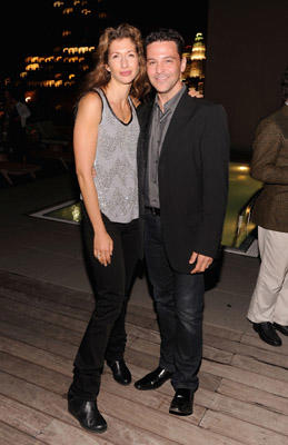 "Slide 1 of 21: Alysia Reiner and actor David Alan Basche attend The Cinema Society & The Weinstein Company screening of ""Dirty Girl"" after party at The Jimmy at the James Hotel on October 3, 2011 in New York City."