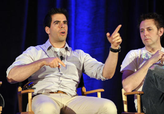 Slide 1 of 67: Director/producer/writer Eli Roth and Writer/director James Gunn speak onstage at Variety's 2011 Entertainment and Technology Summit at Ritz Carlton Hotel on May 2, 2011 in Marina del Rey, California.