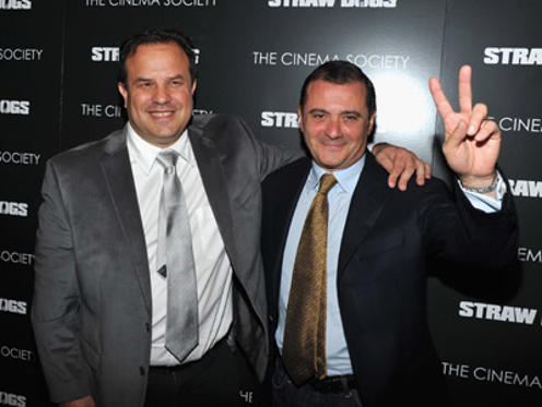"Slide 1 of 27: Director Rod Lurie and producer Marc Frydman attend The Cinema Society screening of Screen Gems' ""Straw Dogs"" at the Tribeca Grand Hotel on September 15, 2011 in New York City."