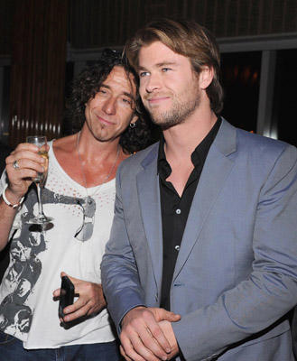 "Slide 1 of 24: Ralph Cirella and Chris Hemsworth attend The Cinema Society & Acura screening of ""Thor"" after party at The Top of The Standard on April 28, 2011 in New York City."