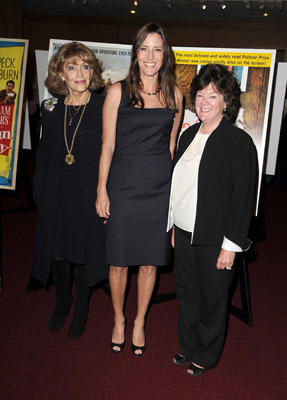 Slide 1 of 113: Veronique Peck, Cecilia Peck and Mary Badham attend the Gregory Peck Legends Of Hollywood Stamp Series Ceremony at AMPAS Samuel Goldwyn Theater on April 28, 2011 in Beverly Hills, California.