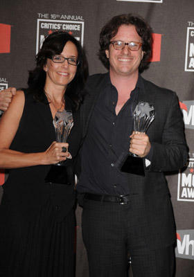 Slide 1 of 123: Producer Lesley Chilcott (L) and director Davis Guggenheim pose in the press room at the 16th Annual Critics' Choice Movie Awards at the Hollywood Palladium on January 14, 2011 in Los Angeles, California.