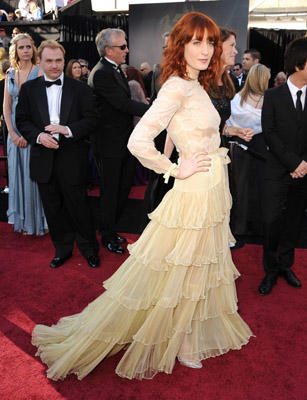Slide 1 of 245: Singer Florence Welch arrive at the 83rd Annual Academy Awards at the Kodak Theatre on February 27, 2011 in Hollywood, California.