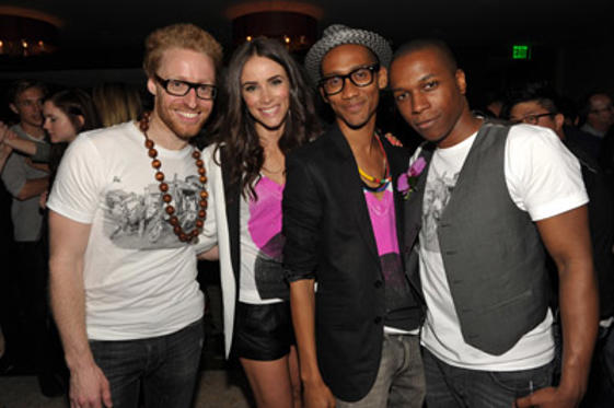 Slide 1 of 56: Matt Gould, Abigail Spencer, Griffin Matthews, and Leslie Odom Jr. attend the Uganda Project Fund Raiser Presented By Make Believe at Soho House on May 13, 2011 in West Hollywood, California.