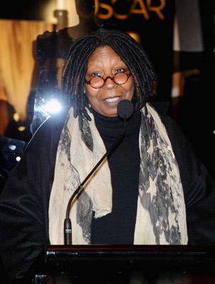 "Slide 1 of 14: Actress Whoopi Goldberg speaks at the 83rd Annual Academy Awards - ""Meet The Oscars"" New York at Grand Central Terminal on February 23, 2011 in New York City."