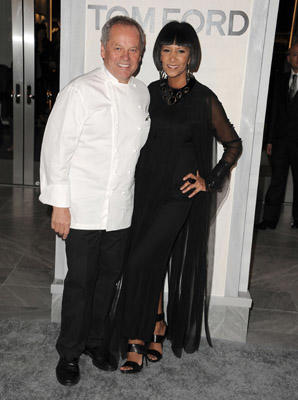Slide 1 of 178: Chef Wolfgang Puck and wife Gelila Assefa attends the Tom Ford Flagship Store Opening Celebration at TOM FORD on February 24, 2011 in Beverly Hills, California.