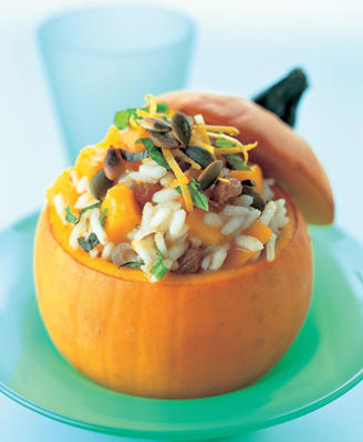 Photo: Pumpkin risotto - Lightly roasted pumpkin seeds add texture, flavor, and a number of valuable nutrients to this savory dish.