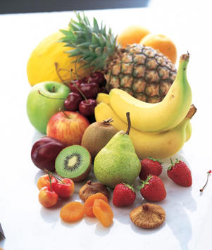 Photo: Fruits - Packed with essential nutrients, fruits provide a good source of carbohydrates, fiber, vitamins, and phytochemicals.